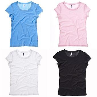 Bella + kangas naisten/naisten Sheer Jersey lyhythihainen t-paita