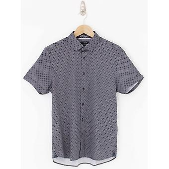 Тед Бейкер Намасти Geo печати рубашка - ВОЕННО-морской флот