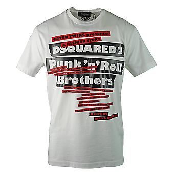Dsquared2 Punk N Roll Logo camiseta blanca