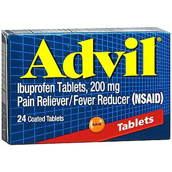 Advil pain reliever fever reducer coated, tablets, 24 ea