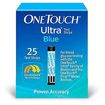 Onetouch ultra blue blood glucose test strips, 25 ea