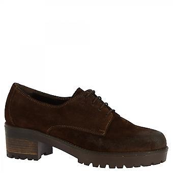 Chaussures Leonardo Chaussures Chaussures Chaussures Femmes-apos;s chaussures oxford talons faits à la main en cuir daim brun foncé