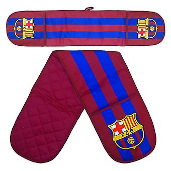 FC Barcelona Official Football Gift Double Oven Rękawica kuchenna Claret & Blue