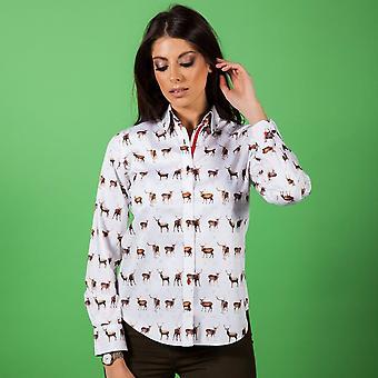 CLAUDIO LUGLI WOMENSWEAR Hirsch Print Damen Shirt