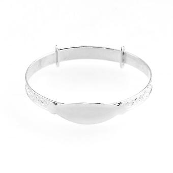 Eternity Sterling Silver Expanding Identity Baby/Kids Bangle