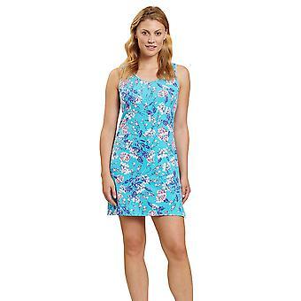 Rösch 1202038-16501 Frauen's Be Happy Blue Summer Bloom Floral Nachthemd