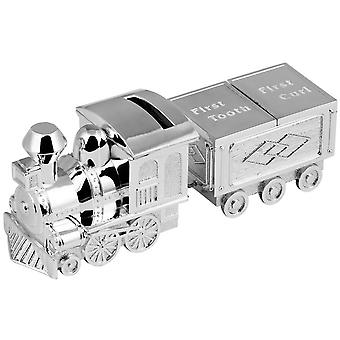 Orton West Train First Tooth and Curl Money Box - Silver