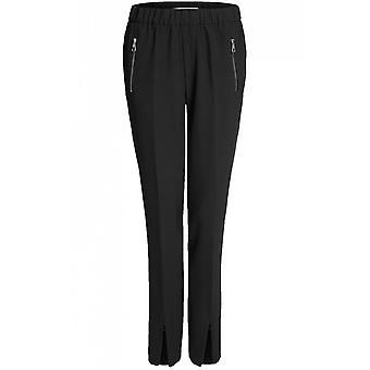 Oui Black Slim Leg Trousers