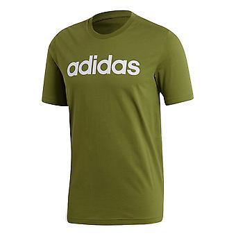 adidas Essentials Linear Logo Mens T-Shirt Shirt Tee Khaki