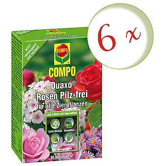 Sparset: 6 x COMPO Duaxo® roser champignon-fri for alle prydplanter, 50 ml