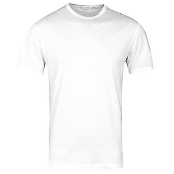 Sunspel White Short Sleeve Crew Neck T-Shirt
