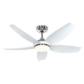 DC Deckenventilator Eco Volare 116 Chrom / Weiß mit LED