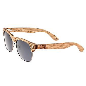 Earth Wood Moonstone Polarized Sunglasses - Bamboo-Ebony/Black