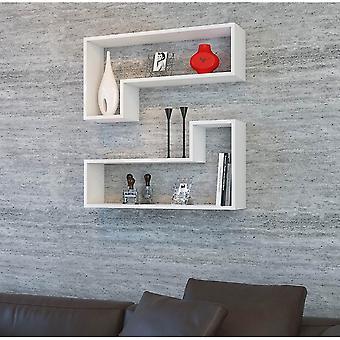 Ozy Biała półka w melaminowym chipie, PVC 83.6x19.5x43.6 cm