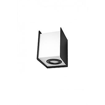 Stereo Wall Light Steel Black / White 1 Bulb