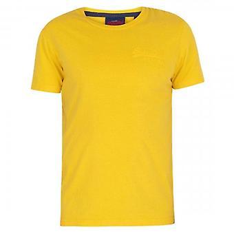 Superdry VL Premium Goods Tonal Injection T-Shirt Nautique Jaune NWI