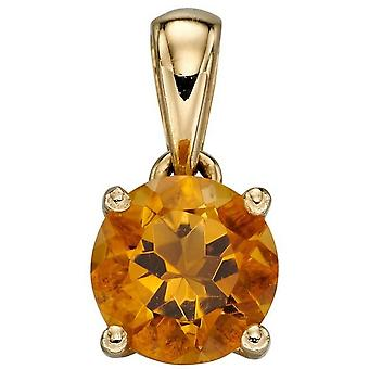 Elements Gold November Birthstone Pendant - Orange/Gold