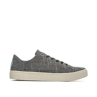Women's Toms Lenox Textured Chambray Sneakers in Black