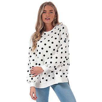 Women's Only Chili Dot Crew Sweatshirt in White