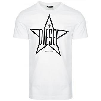 Diesel valkoinen T-Diego logo T-paita
