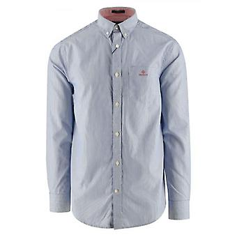 GANT Blue Striped Broadcloth Striped Shirt