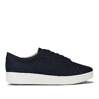 Women's Fit Flop Rally Denim Trainers in Blue