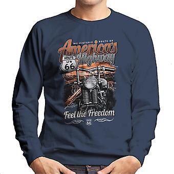Route 66 America ' s Highway mænd ' s sweatshirt