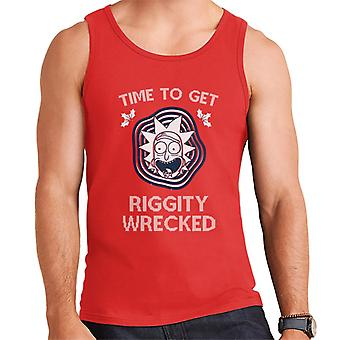 Rick and Morty Time To Get Riggity Wrecked Men's Vest
