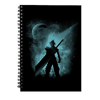 Ex Soldier Sihouette Cloud Strid Endelig Fantasy VII Spiral Notebook