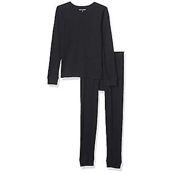 Essentials Boy's Thermal Long Underwear Set, Black, X-Small