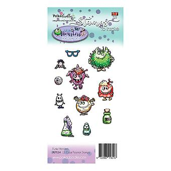 Polkadoodles Little Monsters Clear Stamps Funky