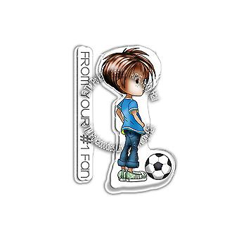 Polkadoodles Little Dudes Football Clear Stamps