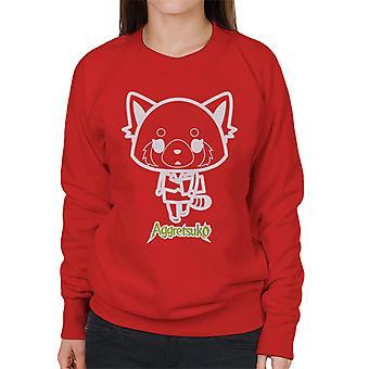 Aggretsuko Retsuko Office Attire Outline Women's Sweatshirt