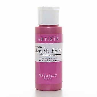 Hantverk AkrylFärg (2oz) - Metallic Rose (DOA 763107)