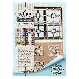 Spellbinders Layered Tile Designer Die