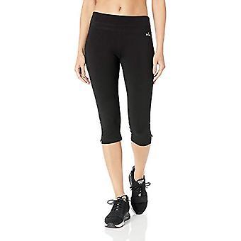 Spalding Women's Plus-Size Straight Leg Crop Pant, Noir, 3X