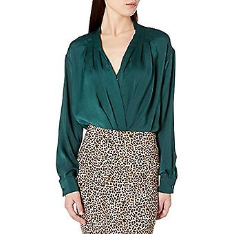 ASTR the label Women's Yvette Surplice Wrap Top Bodysuit, Spruce Green, X-Small
