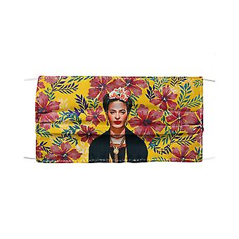 Frida tropical prints mask