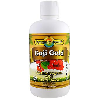 Dynamic Health  Laboratories, Certified Organic Goji Gold, 100% Juice, 32 fl oz