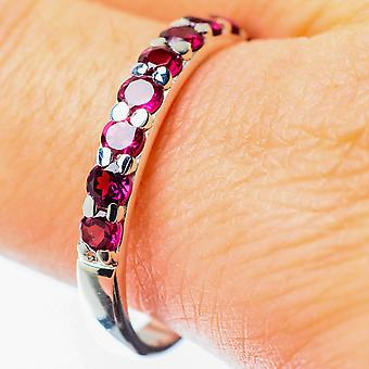Pink Tourmaline Ring Size 10.75 (925 Sterling Silver)  - Handmade Boho Vintage Jewelry RING25598