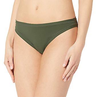 Brand - Mae Women's Standard 3 Pack Perfect FIT Bikini, fashion/jet bl...