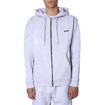 Msgm 2740mm8719579894 Mænd's Grå Bomuld Sweatshirt