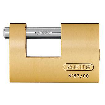 ABUS 82/90mm Monoblock Messing Shutter Vorhängeschloss kardietIERT ABU8290C