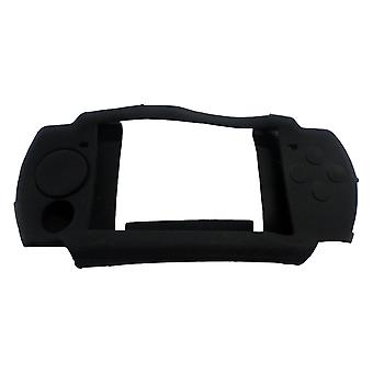 Protective skin for psp 2000 sony console protective silicone cover bumper case - black | zedlabz