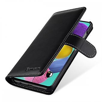 Case For Samsung Galaxy A51 Black Talis Portfolio Nappa In True Leather