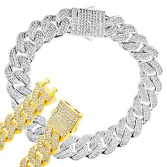 ICED OUT Cuban Link Armored Chain Bracelet - 12mm