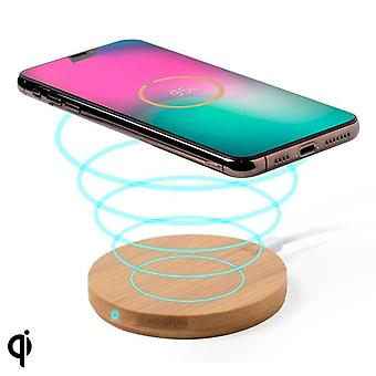 Qi Trådlös Laddare till Smartphones (0,9 x Ø 9,1 cm) Bambu
