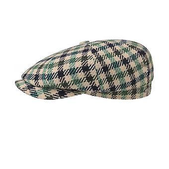 Stetson Wool Blend Check Hatteras Cap