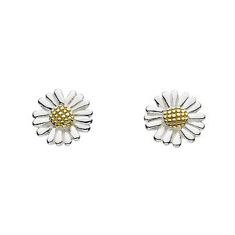 Dew Sterling Silver Dinky Daisy With Gold Plate Stud Earrings 4082GDG020