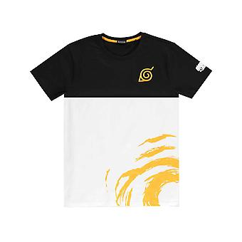 Naruto Shippuden T Shirt Swirl logo nouveau officiel Mens Black